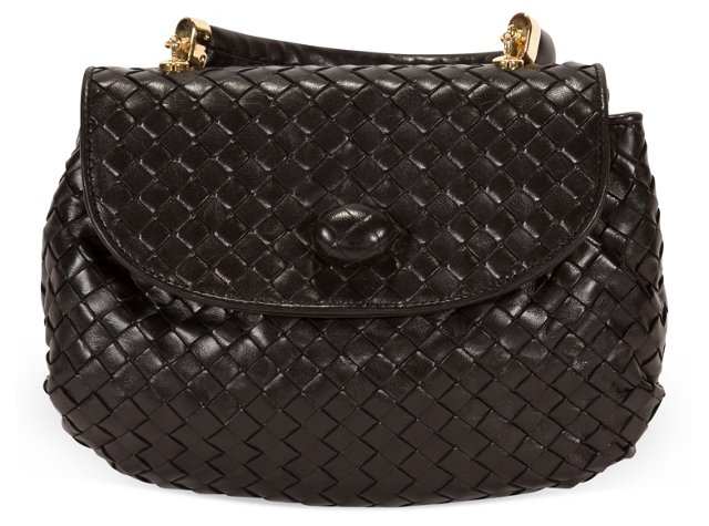 Bottega Veneta Black Leather Purse
