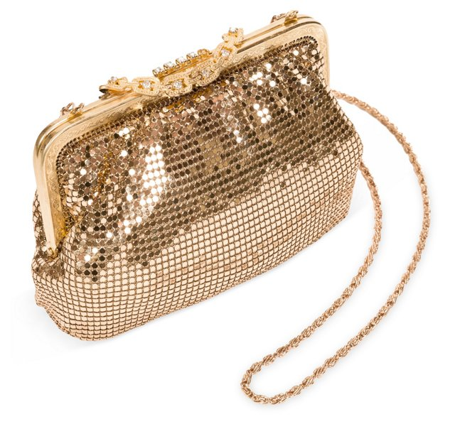 Gold Chain-Mail Evening Bag