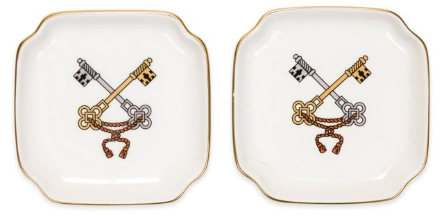 Richard Ginori Porcelain Trays, Pair I
