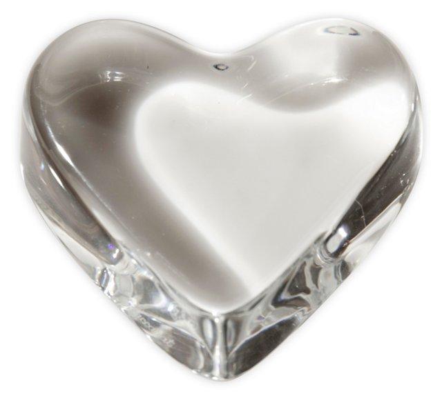 Baccarat Heart Paperweight