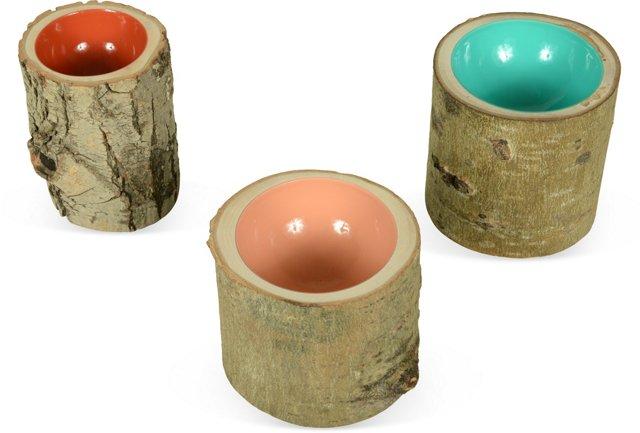 Log Bowls, Set of 3, IV