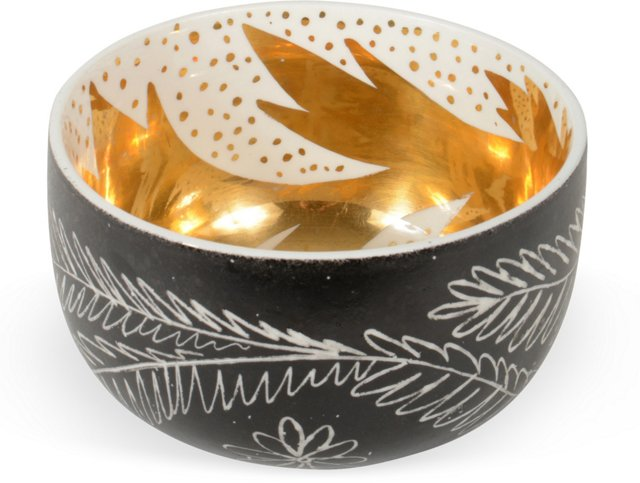 Waylande Gregory Black Thistle Bowl