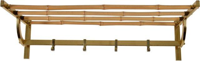 Blonde Bamboo Coatrack