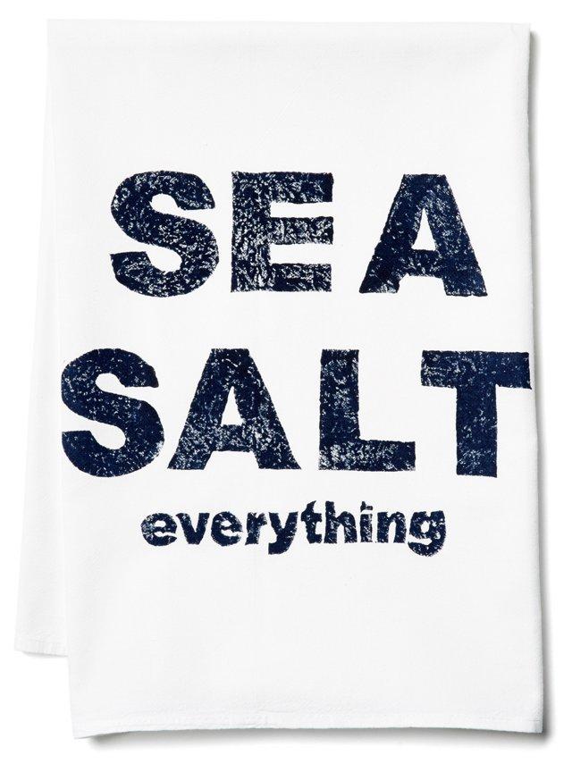 S/2 Sea Salt Everything Tea Towels, Navy