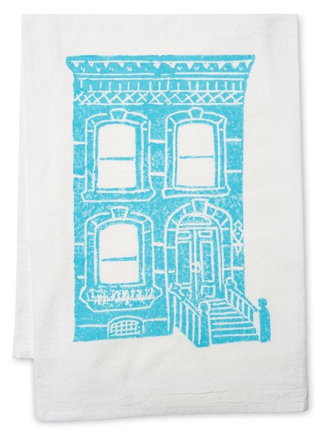 S/2 Brownstone Tea Towels, Aqua