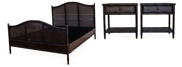 Queen Bed & 2 Side Tables