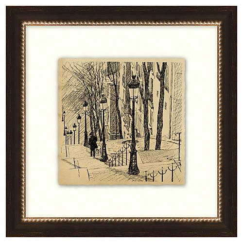 Vintage Parisian Etchings IV