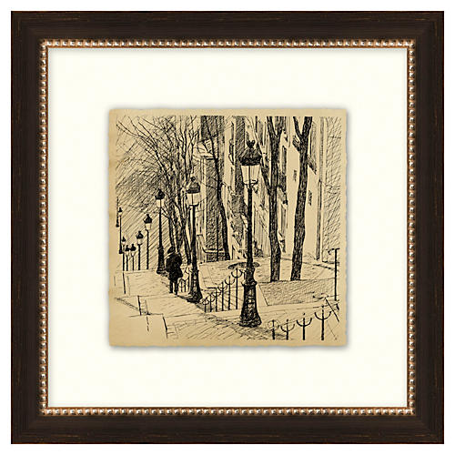 Vintage Parisian Etchings IV