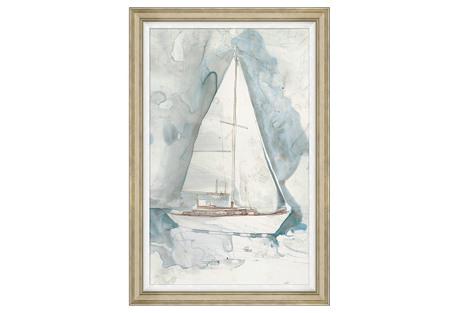 """Whitewashed Yacht I, 31"""" x 46"""