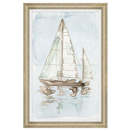"""Whitewashed Yacht II, 31"""" x 46"""""""