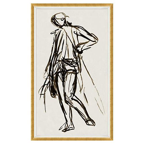 """Vintage Figure II, 38"""" x 64"""""""