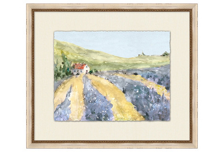 "Lavender Farm, 26"" x 22"""