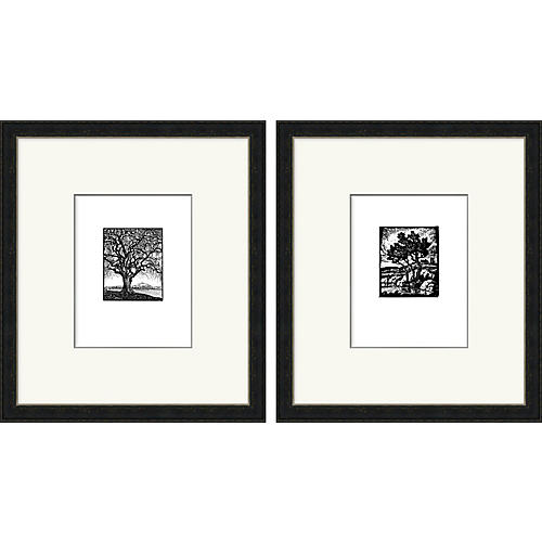Scenic Woodbock Prints Diptych