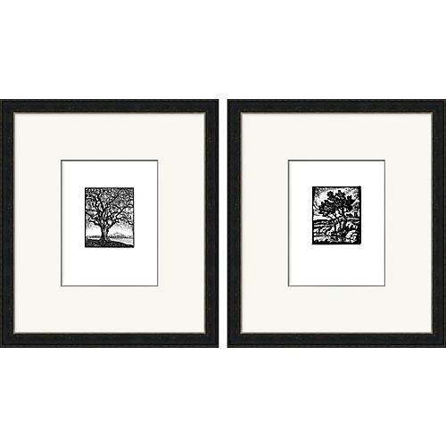 Scenic Woodbock Prints Diptych