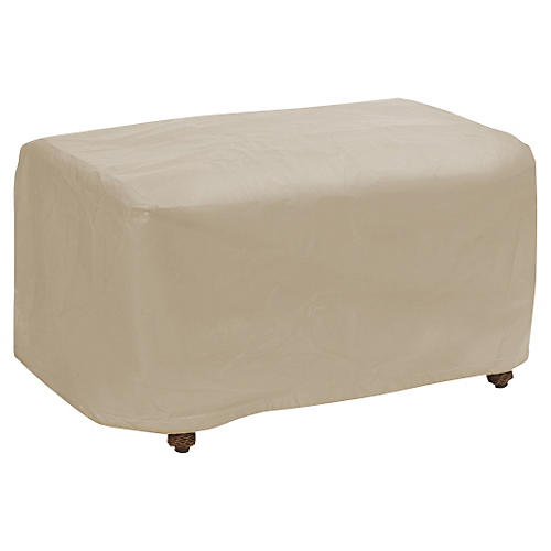 Small Ottoman Cover, Tan