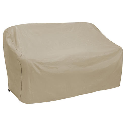 "84"" Three-Seat Sofa Cover, Tan"