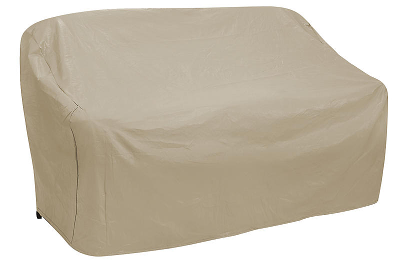 60 Oversize Two Seat Sofa Cover Tan Outdoor One Kings Lane