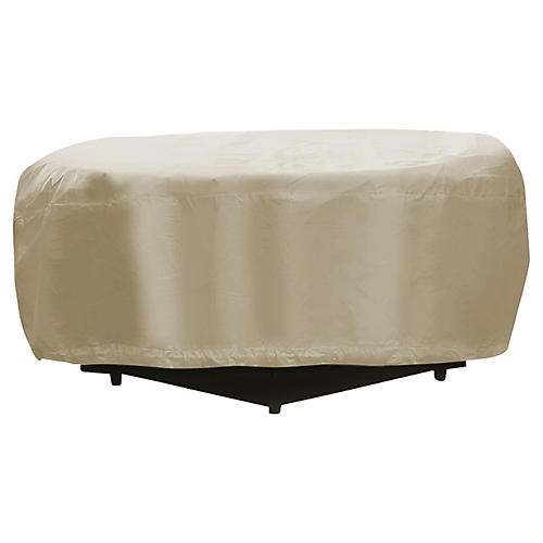 """48"""" Round Fire Pit Cover, Tan"""