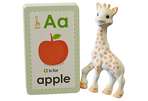Sophie la Girafe & ABC Flashcards Set