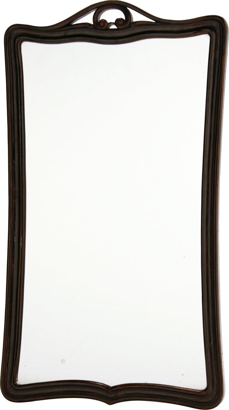 Antique Black Framed Mirror