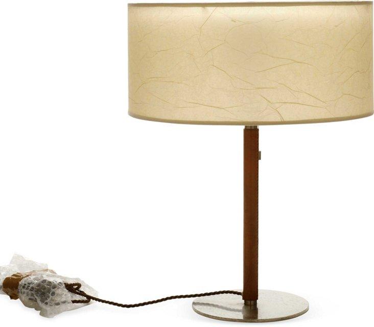 J.T. Kalmar Leather & Steel Table Lamp