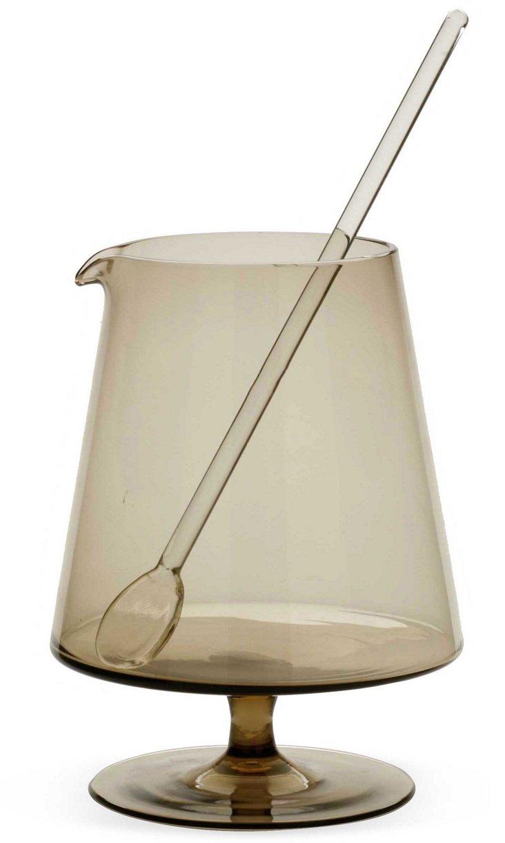 Glass Decanter & Stirrer
