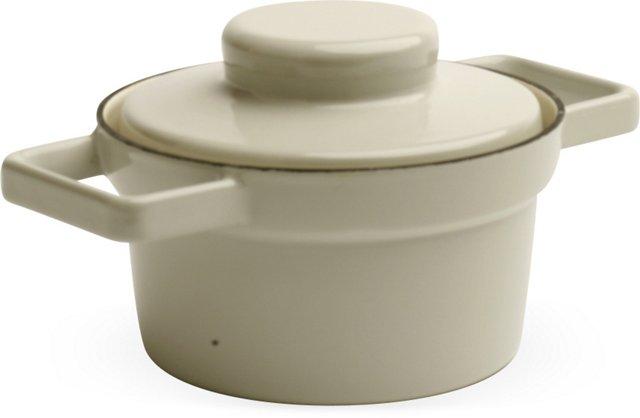 Gray RIESS Lidded Pot, Small