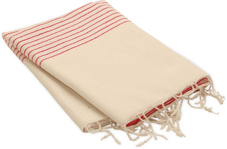 Sidamo Wrap, Thin Pink Stripe