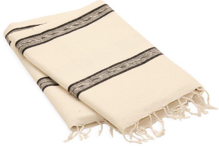 Sidamo Wrap, Double Navy Stripe