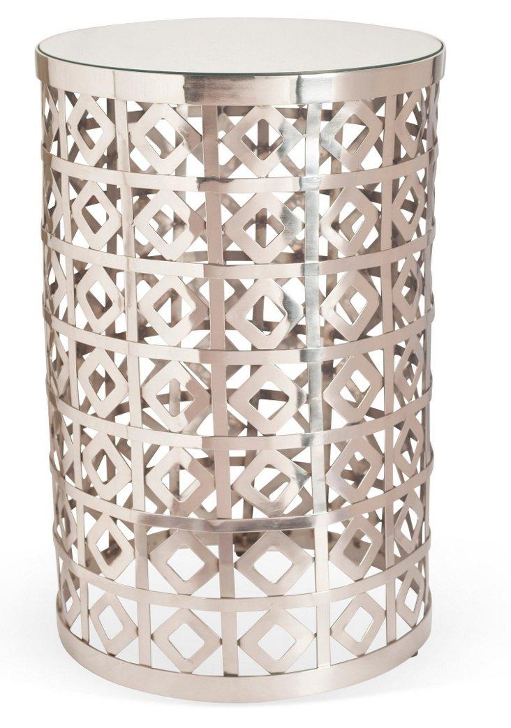 Amaryllis Silver Side Table