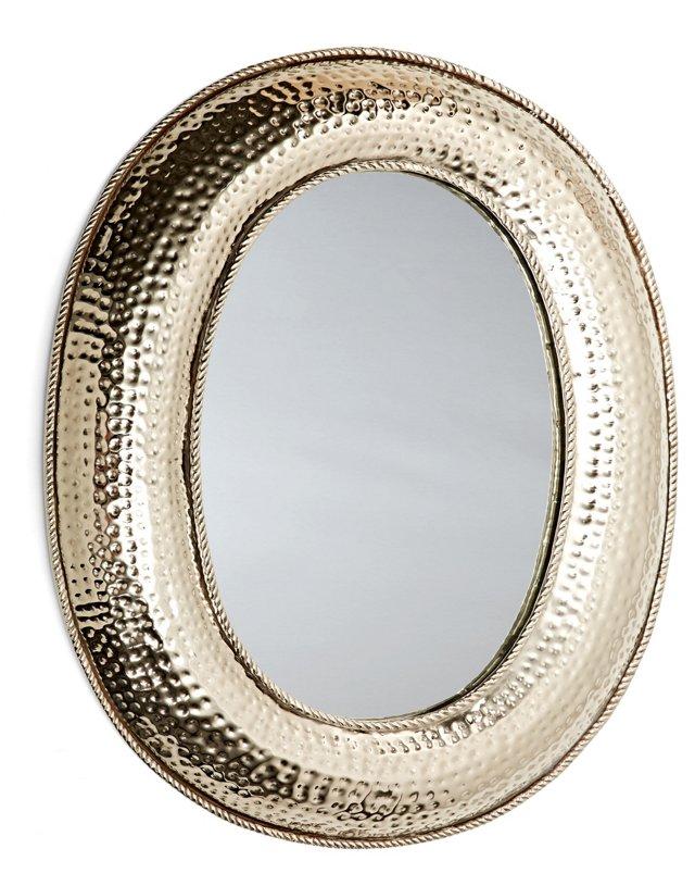 Gabriel Wall Mirror, Nickel