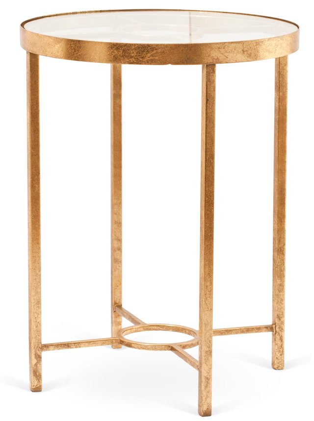 Weston Side Table, Gold