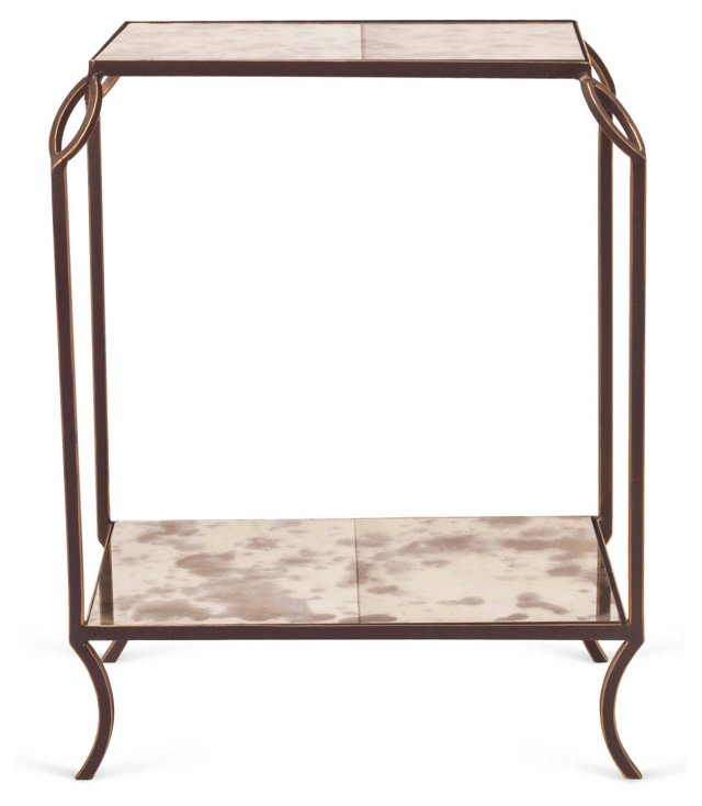 Hunter 2-Tier Side Table, Gold