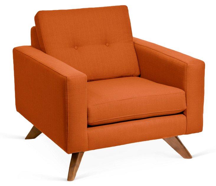 Laura Modern Club Chair, Saffron
