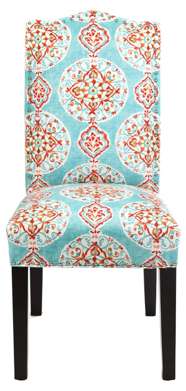 Melanie Side Chair, Turquoise