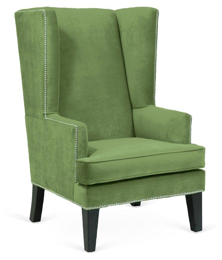 Marie Wingback Chair, Sweet Pea