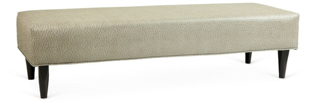 """Anthony 58"""" Ostrich Bench, Taupe"""
