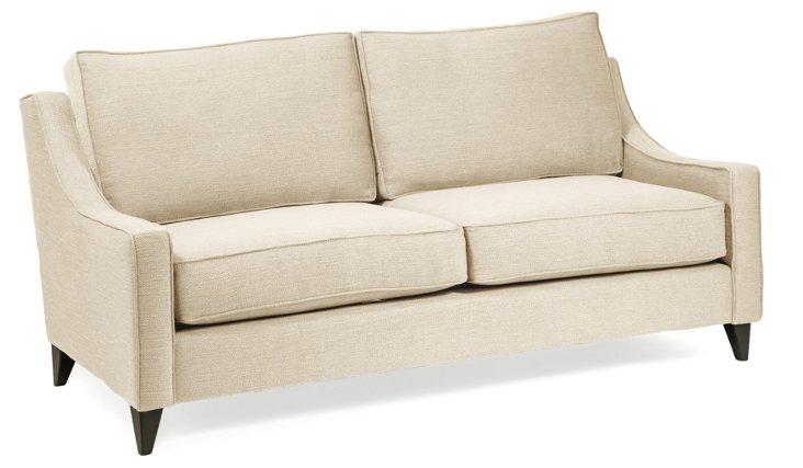 """Ariel 78"""" Sofa, Cream"""