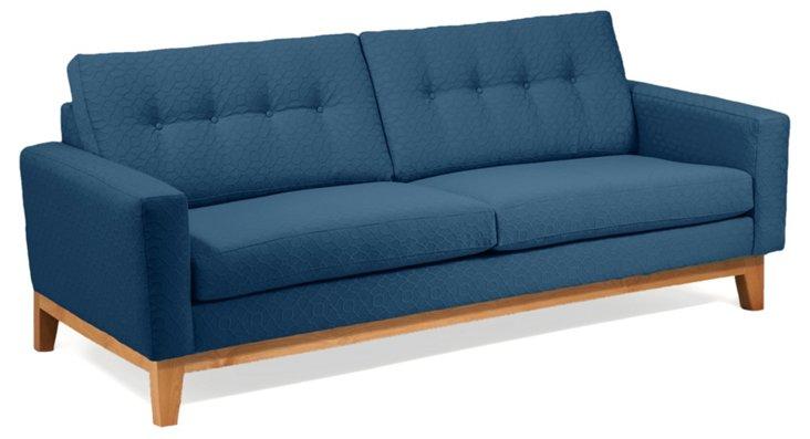 """Julie 83"""" Tufted Sofa, Blue"""