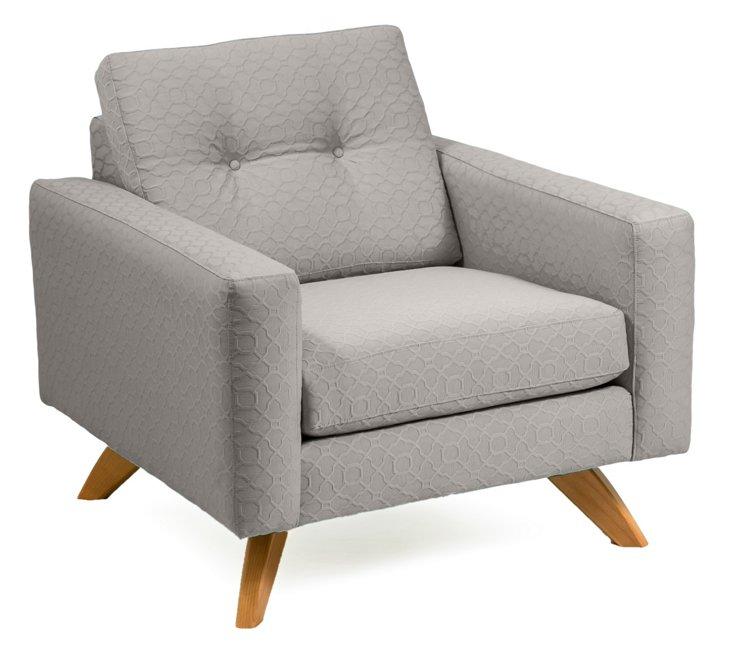 Sarah Club Chair, Gray