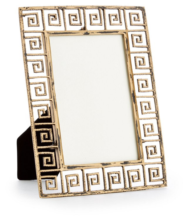 Greek Key Frame, 4x6, Gold
