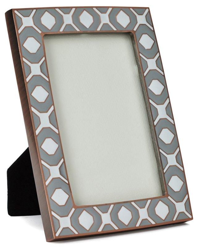 Geometric Metal Frame, 4x6, Silver