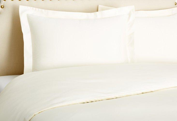 Sateen Duvet Set, Ivory