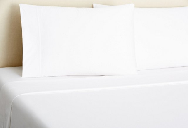 King Classic Percale Sheet Set, White
