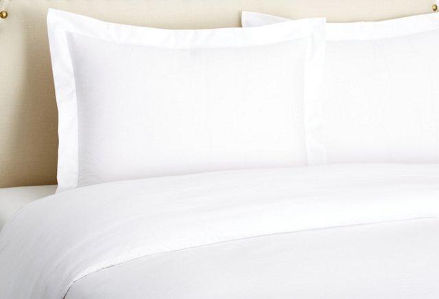 Queen Classic Percale Duvet Set, White