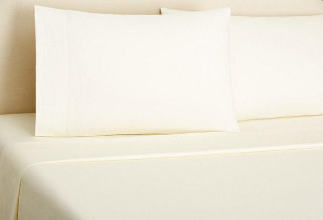 Queen Classic Percale Sheet Set, Ivory