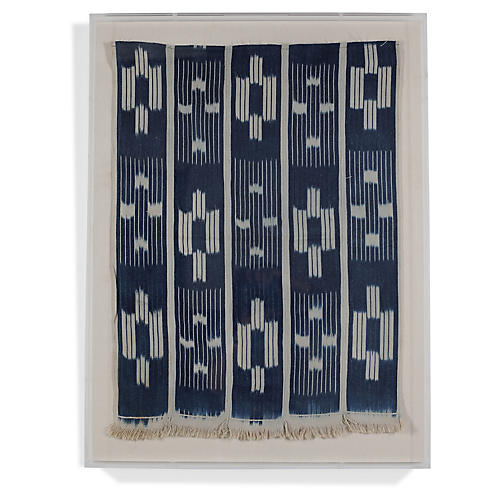 , Baoule Cloth II Framed Textile