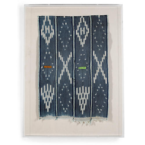 , Baoule Cloth III Framed Textile