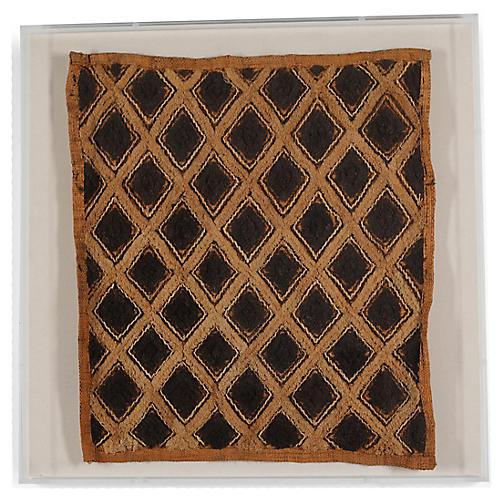 Kuba Cloth Framed Textile
