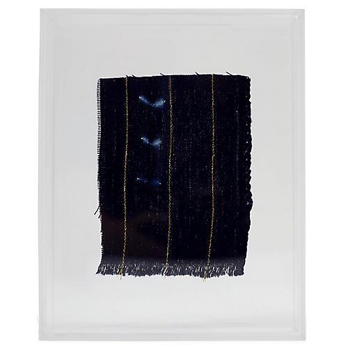 Mini Indigo I Framed Textile